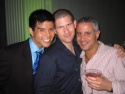 Telly Leung (Boq), Terry Goldman (ElectricArtists PR), and David Stone (Producer)