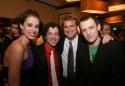 Sara Gettelfinger, Tyrone Giordano, Director Jeff Calhoun and Michael Arden