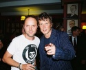 Lars Ulrich (Metallica) and Will Chase