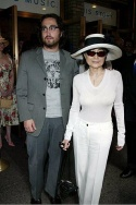 Yoko Ono Lennon with her son Sean Lennon