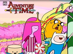 Adventure Time with Finn and Jake small logo