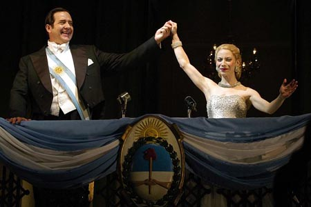 Elena Roger and Philip Quast at Evita Opening Night in London