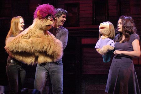 Clare Foster, Simon Lipkin and Julie Atherton at Avenue Q Opens in London
