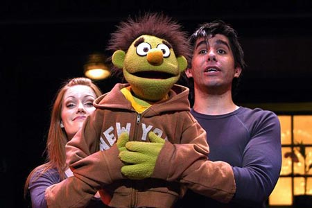 Clare Foster and Simon Lipkin at Avenue Q Opens in London