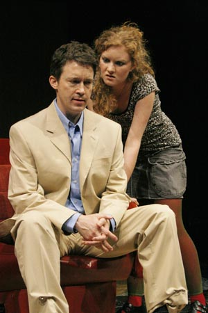 Patrick Melville and Wrenn Schmidt  at Off-Broadway's Crazy for the Dog