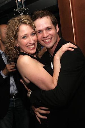 Courtney Balan and Jason Dula at [title of show] Opening Night
