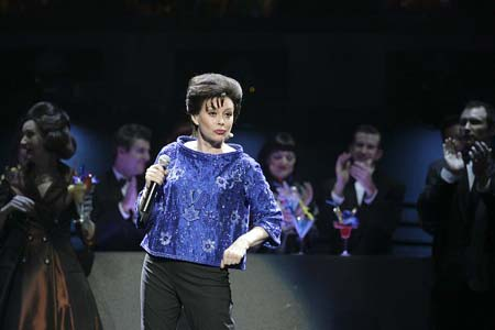 Chrissy Amphlett at Boy from Oz Dress Rehearsal in Australia