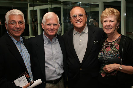 Duffy Violante, Ted Snowden, Eddie Carroll, and Carol Carroll at Indian Blood Opening Night