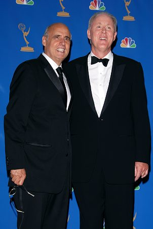 Jeffrey Tambor and John Lithgow at Emmy Awards Arrivals and Press Room