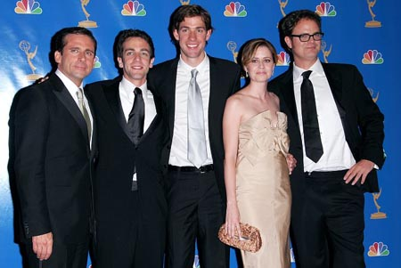 Steve Carrell and the cast of 'The Office' at Emmy Awards Arrivals and Press Room