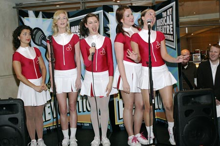 Kellie Rode, Esther Hannaford, Amanda Levy, Verity Hunt-Ballard and Rosemarie Harris  at Third NYMF Concert