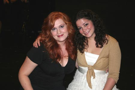 NYMF Broadway Idol Contestants Katie Thompson and Shannon Amiry at NYMF Broadway Idol 2