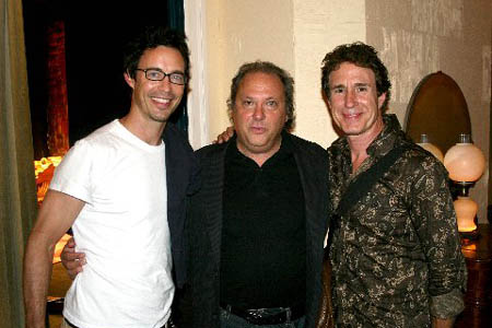 Tom Cavanaugh, author Richard Vetere and John Shea at Machiavelli Opens Off-Broadway