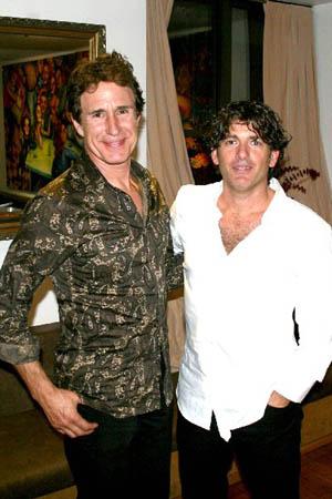 John Shea and director Evan Bergman at Machiavelli Opens Off-Broadway