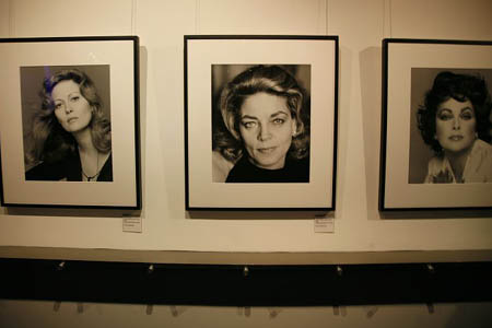 Portraits of Faye Dunaway, Lauren Bacall and Elizabeth Taylor at Quest & Jones at Scavullo Gallery Opening