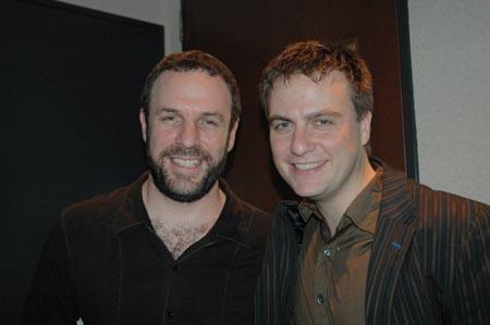 Manoel Felciano and Peter Foley at The Hidden Sky at Ars Nova