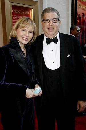 Terre Blair Hamlisch and Marvin Hamlisch at A Chorus Line Opening Night Arrivals