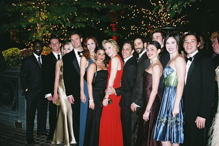 A Chorus Line group shot at A Chorus Line Opening Night Party