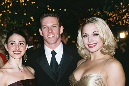 Natalie Cortez (Diana), Ken Alan (Bobby) and Jessica Lee Goldyn (Val) at A Chorus Line Opening Night Party