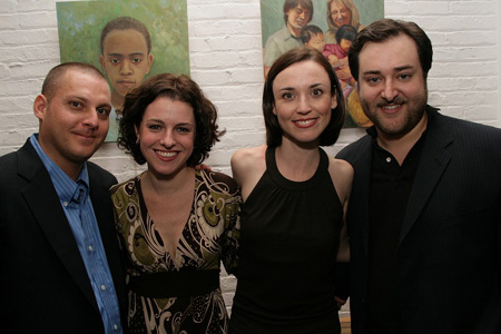 Peter Smith, Julia Haubner Smith, Katie Dietz, and Michael Barra at A Night in Gotham Benefit