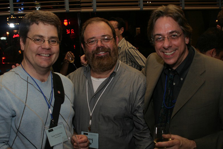 Kent Nicholson, Henry Fonte, and Michael Wolk at NAMT Showcase and Reception