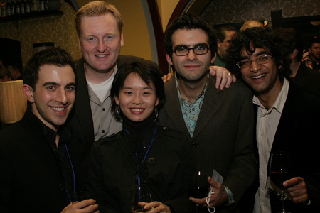 Michael Cooper, Robert Maddock, Hey Jung, Joe Iconis, and Reza Jacobs at NAMT Showcase and Reception