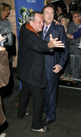Terry Gilliam and Eric Idle at Spamalot London Gala Opening