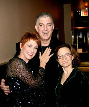 Amanda McBroom, Joel Silberman and Michele Brourman, her director and collaborator at McBroom at the Metropolitan Room