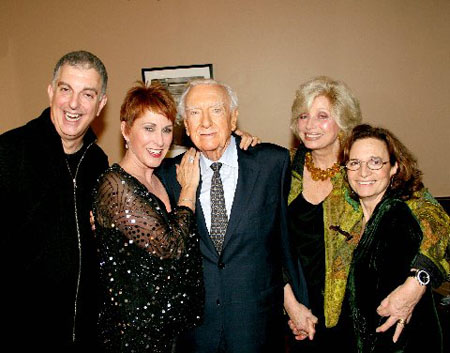 Joel Silberman, Amanda McBroom, Mr. & Mrs. Walter Kronkite and Michele Brourman at McBroom at the Metropolitan Room