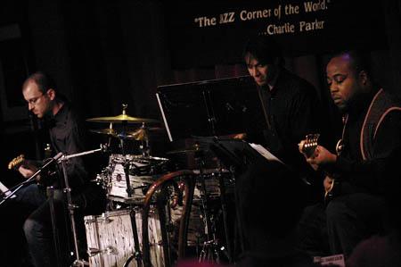 Michael Aarons, Damien Bassman and Konrad Adderley at Julia Murney at Birdland