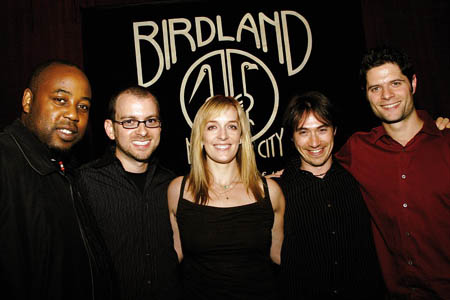 Konrad Adderley, Michael Aarons, Julia Murney, Damien Bassman and Tom Kitt at Julia Murney at Birdland