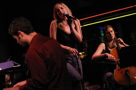 Tom Kitt, Julia Murney and Mairi Dorman at Julia Murney at Birdland