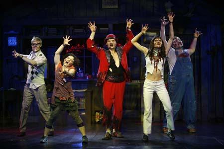 Tom Walker, Jenna Coker, Brandon Wardell, Jennifer Byrne, Darryl Winslow at Evil Dead The Musical