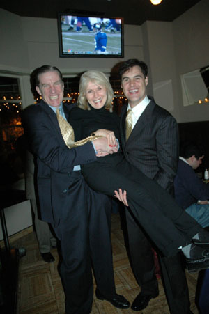 Nick Wyman, Pat Collins and James Clow at Paper Mill's 'Wonderful Life' Opens
