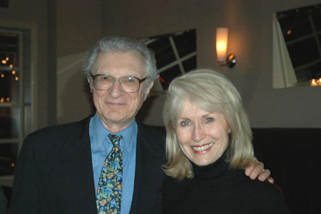 Sheldon Harnick and Pat Collins (wife of late composer, Joe Raposo) at Paper Mill's 'Wonderful Life' Opens