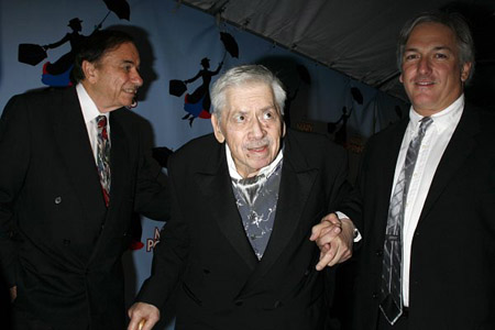 Richard Sherman, Robert Sherman and Jeff Sherman at Mary Poppins Opening Night Arrivals
