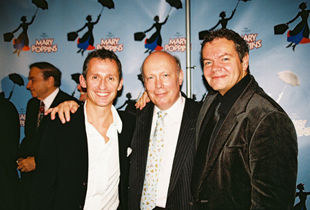 George Stiles, Julian Fellowes and Anthony Drewe at Mary Poppins Press Reception