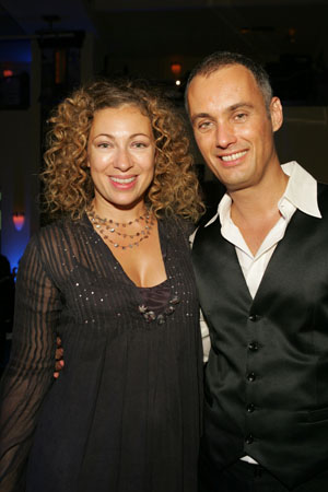 Alex Kingston ('ER') and Michael LePoer Trench at Mary Poppins Opening Night Dinner Party