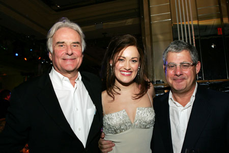 Richard Eyre, Ashley Brown and Cameron Mackintosh at Mary Poppins Opening Night Dinner Party