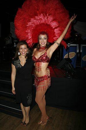 Justina Machado and Irene Aram at An Evening of Latin Rhythms