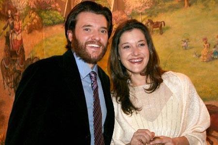 Jason Butler Harner and Bianca Amato at Coast of Utopia: Voyage Opening Night