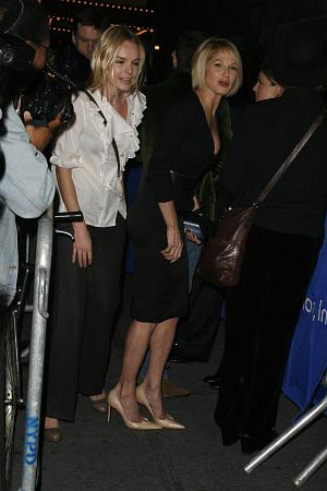 Kate Bosworth and Ellen Barkin at The Vertical Hour Opening Night