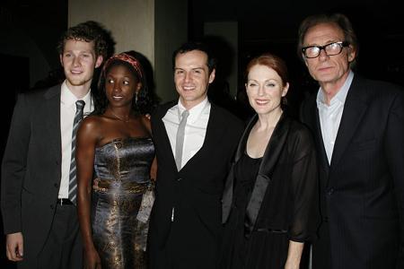 Dan Bittner, Crystal Noelle, Andrew Scott, Julianne Moore and Bill Nighy  at The Vertical Hour Opening Night