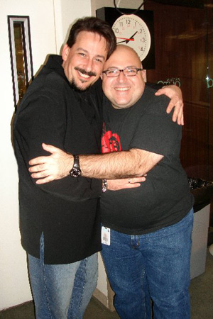 Mark Rupp and Sirius' Frank De Caro at World AIDS Day Concert at Sirius Radio