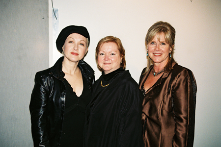 Cyndi Lauper, Judy Shepard and Tipper Gore at Laramie Project Benefit Reading