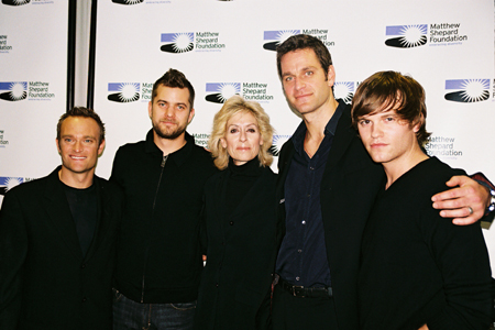 Chad Allen, Joshua Jackson, Judith Light, Peter Hermann and Van Hansis at Laramie Project Benefit Reading
