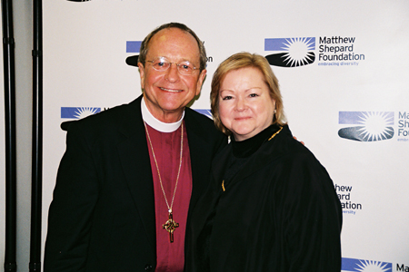 Bishop Gene Robinson and Judy Shepard at Laramie Project Benefit Reading