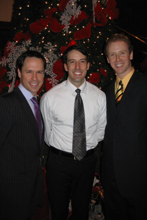 James Patterson, Chad Harlow and Colin Bradbury at White Christmas Opens in St. Paul