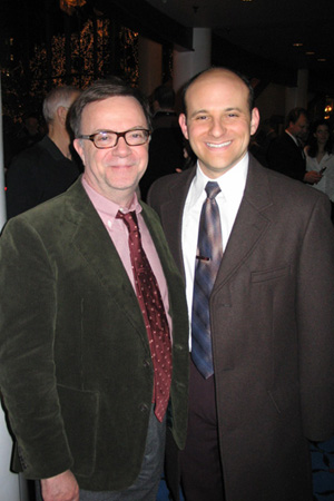 Paul Blake and Michael Thomas Holmes (Mike Nolte) at White Christmas Opens in St. Paul