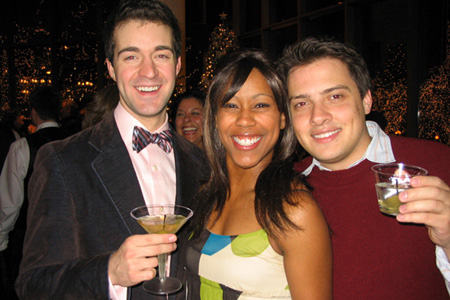 Matthew Schneider, Lisa Ramey and David Ruttura (Asst. Director) at White Christmas Opens in St. Paul